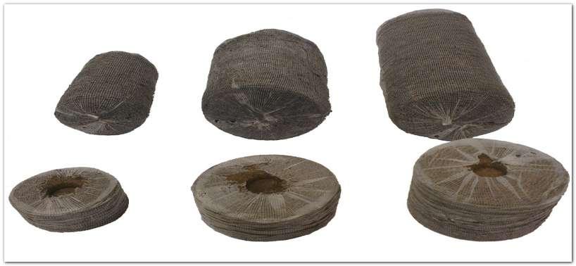 Торфяные таблетки разных диаметров
