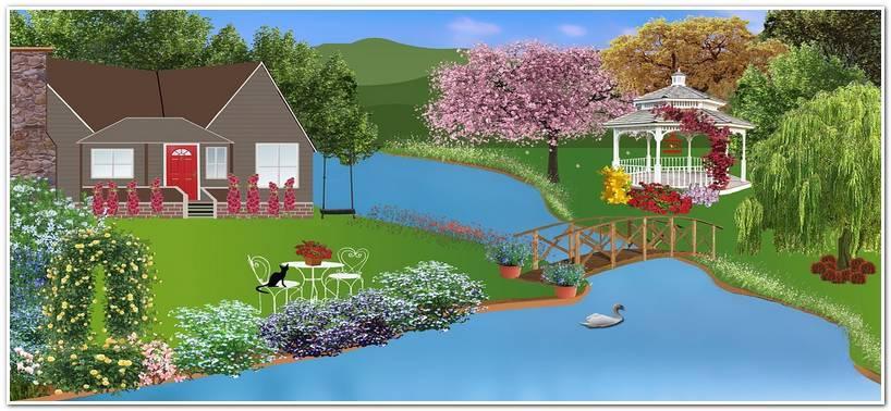 Рисунок садового участка с домом